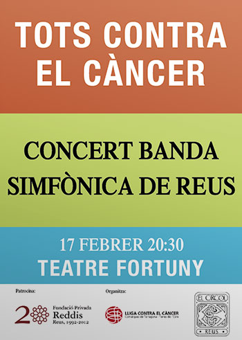 Cartell del concert &quot;Tots contra el cncer&quot;